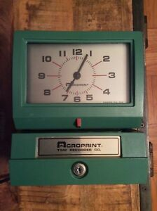 Acroprint Time Recorder Co Clock 5640