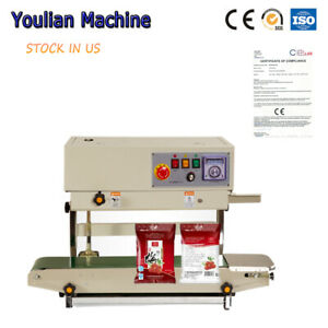 Automatic Heat Sealing Machine With Date Printer Continuous Band Sealer Us Stock