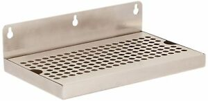 Kegco Beer Drip Tray 10 Stainless Steel Wall Mount No Drain