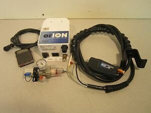 Simco Orion Ionizing Air Nozzle Controller Foot Pedal Gun Pressure Gauge 120v