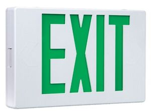 Cooper Lighting Led Exit Sign With Battery Backup White Housing Color Plastic
