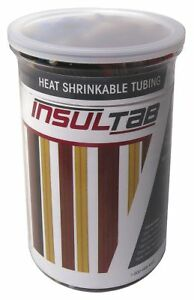 Insultab 175 piece Heat Shrink Tubing Kit Flexible Pvc Black 30 pvc 175bk