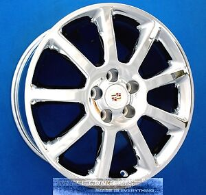 Cadillac Cts Sts Dts 18 Inch Chrome Wheels 18 Rims Deville Seville Oem 18x8 0