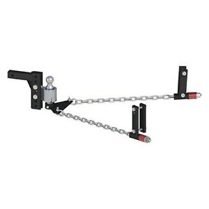 Andersen 3398 8 Drop rise Weight Distribution Hitch W Ball For 2 5 Receivers