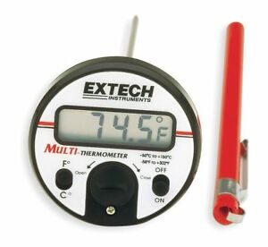 Extech Digital Pocket Thermometer 5 In Plastic 392050