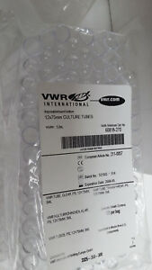 Vwr Micro Culture Tubes W caps 12x75mm 60818 270 1000 case Exp 05 08