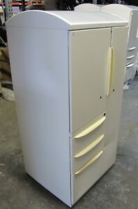 Haworth Personal Storage Tower Office Metal White Wardrobe Tool Locker Cabinet