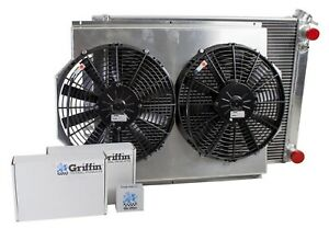 Griffin Cu 00009 Ls Performance Fit Combounit Radiator For Chevrolet Chevelle