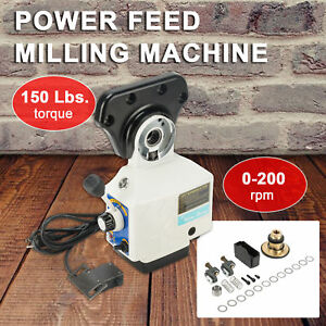 0 210prm Power Feed X axis Torque 150 Lb Power Feed Milling Machine