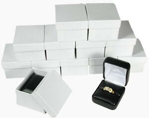 12 Piece Black Faux Leather Ring Jewelry Gift Box 1 7 8 X 2 1 8 X 1 1 2 h