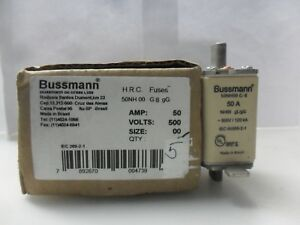 New Bussmann 50nh00 G 8 50 Amp Fuse 500 Volts
