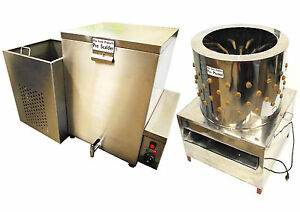 Rite Farm Products X large Pro Chicken Plucker 32 Gal Scalder Combo Poultry
