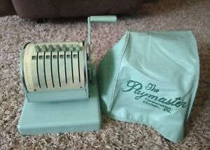 Vintage Paymaster Series X 550 Check Writer Stamping Machine With Plastic Cover