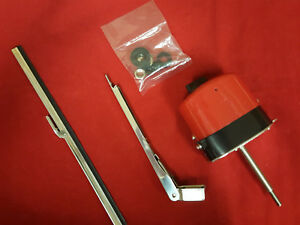 Universal Red Black Windshield Wiper Kit 12v Motor Chevy Ford Mopar Jeep