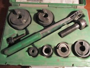 Greenlee 7238sb Slug Buster Knockout Punch Set Missing Parts See Descpt