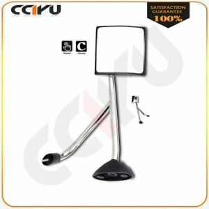 For 02 18 International Truck Hood Mirror Chrome Manual Right Rh Side Assembly
