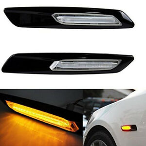 2 X Newly Led Side Marker Light Turn Signal Light For Bmw E90 E91 E92 E93 Amber