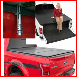 For 04 18 Ford F150 5 5ft Truck Short Bed Hard Tri Fold Tonneau Cover Clamp On