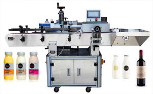 Automatic Adhesive Round Wine Bottle Labeling Machine Oval Beer Can Labeller Usa