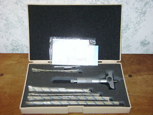 Mitutoyo 0 6 Inch Depth Micrometer Set No 129 128 W Case