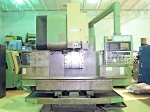 Mori Seiki Mv 55 50 Taper Cnc Vertical Machining Center Mill Fanuc Vmc Cat Chip