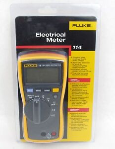 Fluke 114 True Rms Digital Hvac electrician Multimeter ac dc continuitytester