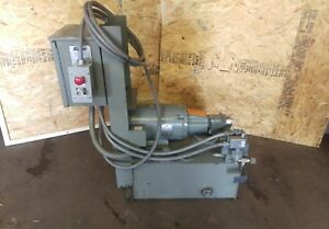 15hp Marathon Hydraulic Power Unit With Directional Valves solenoids Guages