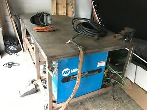 Miller Syncrowave 250 Ac dc Tig Welder And 4x8 Welding Table
