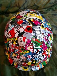 3m Rachet Adjustment Vented Hard Hat With Sticker Bomb Hydro dipped