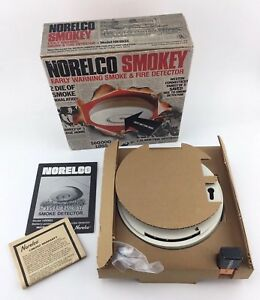 Nos Vintage 1978 Norelco Smokey Hb0933 Smoke Fire Detector made In U s a