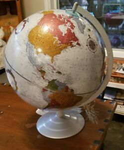 Awesome Replogle 12 Inch Globe Platinum Classic Series Raised Relief Silver
