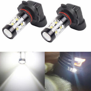2x 50w H10 9145 9140 9040 6000k White High Power Led Fog Lights Driving Bulb Drl