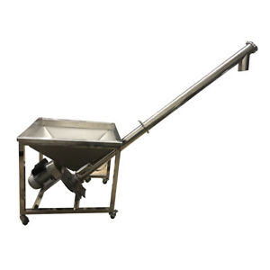 Powder Screw Feeding Vibrating Hopper Inclined Conveyor Machine Auger Feeder Ce