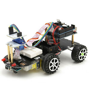 Smart Car Robot Diy Kit Bluetooth Remote Control Tracking Obstacle For Arduino
