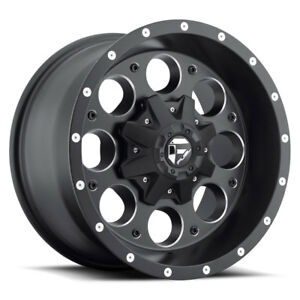 4 New 17x9 12 Fuel D525 Revolver Black Milled 8x6 5 Wheels Rims