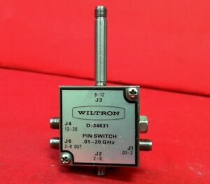 Wiltron D 34831 01 20ghz Pin Switch