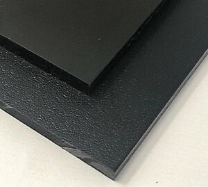 High Density Polyethylene Plastic Sheet 1 2 X 24 X 24 Black One Side Smooth