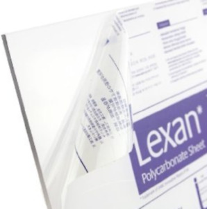 Lexan Polycarbonate Sheet Clear 0 125 1 8 X 24 X 36 Thermoforming