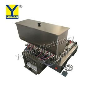 4 Heads Liquid Paste Filling Machine High Speed For Lotion Shampoo Cream Filler