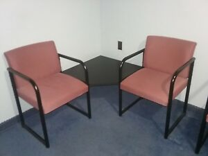 Used Executive Hon Office Furniture Mahogany Color Computers Printers Chairs