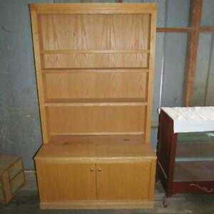 Wood Display Case Store Fixture With Shelves Enclosed Storage