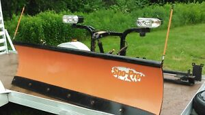 Complete Curtis Sno Pro Snow Plow With Wiring Controller And Bracket Dodge 1500