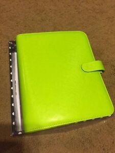 Filofax A5 Saffiano Leather like Organizer Pear Green Planner