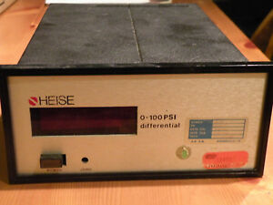 Heise Model 710a Digital Differential Pressure Gauge Range 0 100 Psi