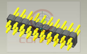 New Lot Of 100pcs Connfly Ds1021 04 2 40sf11 2x40 Press fit Header Male