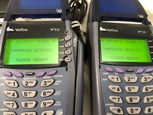 Verifone Vx510 Omni 5100 Set Of 2 Point Of Sale Retail Card Machines