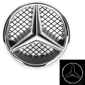 Illuminated Led Light Snap In Front Grille Star Emblem Badge For Mercedes Benz
