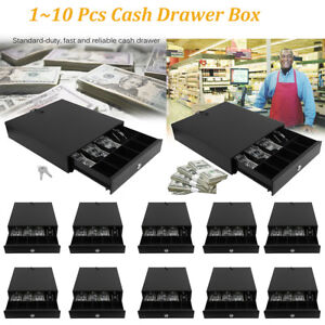 1 10pcs Heavy Duty Cash Drawer 4 Bill 5 Coin Tray For Pos Printer Store Money Sw
