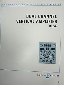 Hp 1805a Dual Channel Vertical Amplifier Operating And Service Manual