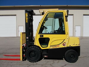 2012 Hyster H60ft 6000 Forklift Pneumatic Forklift Hilo Yale Towmotor
